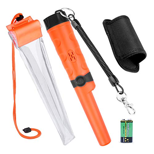 Kuman Pin pointer Water Resistant Metal Detectors with Holster Treasure Hunting Unearthing Tool Accessories Buzzer Vibration Automatic Tuning KW30