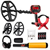 Minelab Vanquish 540 Pro-Pack Waterproof Metal Detector with 12' and 8' Coils + Pro Find 20 Splash Proof Audio & Vibrate Pinpointer